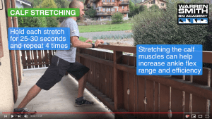 Ski technique lab calf stretch