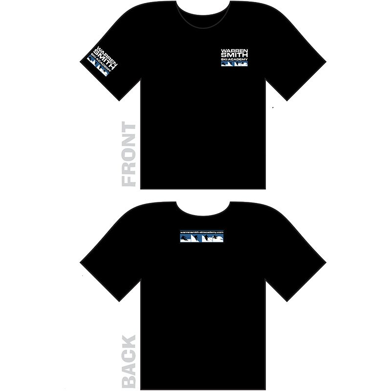 Warren Smith Ski Academy t-shirt black