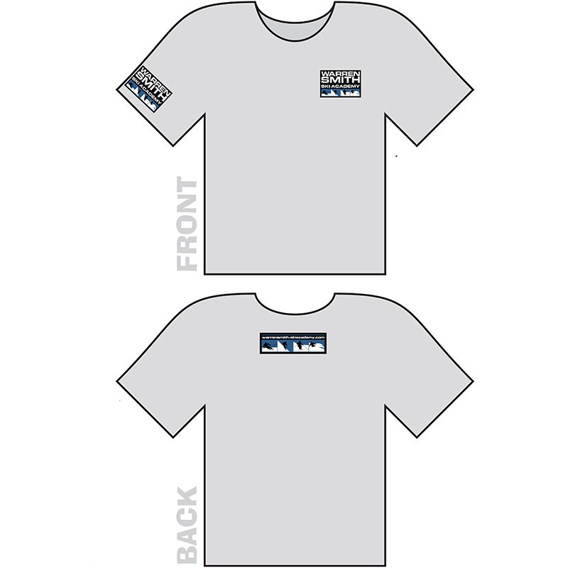 Warren Smith Ski Academy t-shirt grey