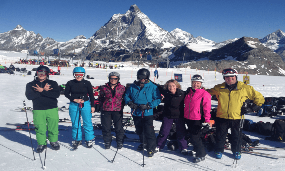 Warren Smith Ski Academy Matterhorn group Cervinia