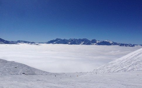 Warren Smith Ski Academy Inversion clouds