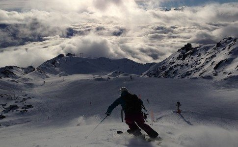 Warren Smith Ski Academy piste Verbier sun clouds