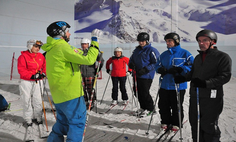 Warren Smith Ski Academy UK indoor group