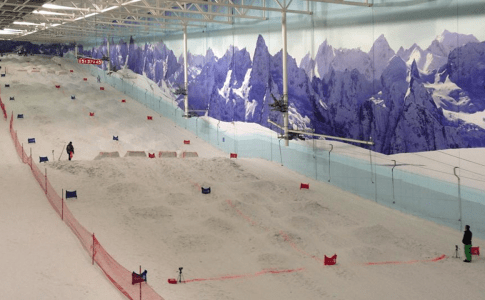Warren Smith Ski Academy UK bumps comp