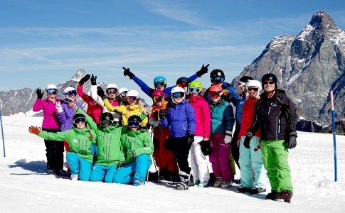 Warren Smith Ski Academy Cervinia-Zermatt team shot