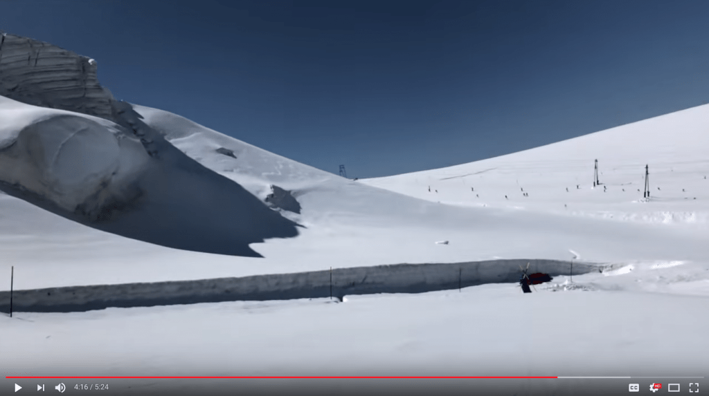 Warren smith ski academy CERVINIA ZERMATT GLACIER VISULA RUNTHROUGH