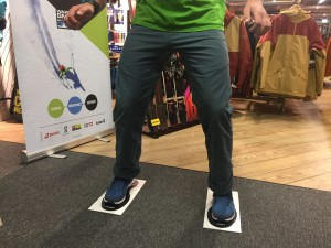 Ski Biomechanics & Range Tests latereral control with client