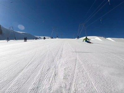 WARREN SMITH SUMMER SKI COURSES CARVING PIC