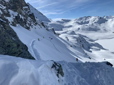 Touring Rock and Roll Verbier off piste